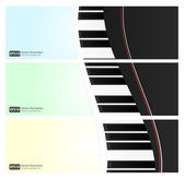 Musical website header or banner set — Vector de stock
