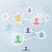 网络概念 — 图库矢量图片