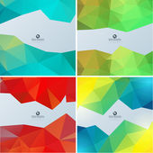 Triangle background set — Vettoriale Stock