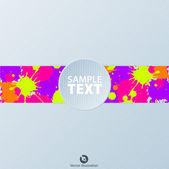Banner with color splash — Vettoriale Stock