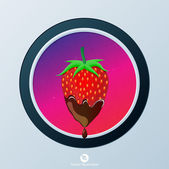 Strawberry icon — Vettoriale Stock