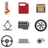 Car Mechanic Icons — Stock Vector