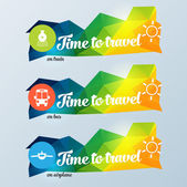 Travel banner — Stock Vector