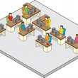 Workstation (Isometric Drawing) — Vettoriali Stock