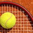Tennis ball and racket — Stock Photo #12703699