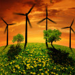 Wind turbines — Stock Photo #12703708