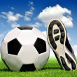Soccer ball and shoes — Foto Stock