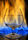 Burning drink — Stock Photo