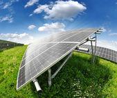 太陽エネルギーのパネル — ストック写真