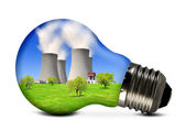 Nuclear power plant in the bulb — Stock Photo