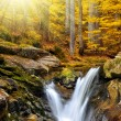Autumnal waterfalls — Stock Photo