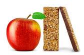 Chocolate Muesli Bars with apple — Stock Photo