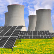 ������, ������: Nuclear power plant with solar panels