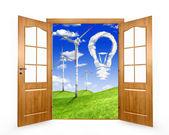 Open de deur — Stockfoto