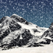 Stock Photo: Beautiful mountain Breithorn and Klein Matterhorn