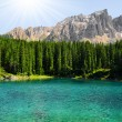Carezza lake - Stockfoto
