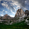 Dolomite peaks, Rosengarten - Stock Photo