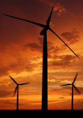 Wind turbines — Stockfoto