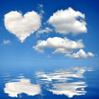 Stock Photo: Heart from clouds