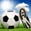 Soccer ball and shoes — Stock Photo #18170713