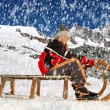 Girl on a sleigh — Stock Photo #18350427