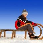 Girl on a sleigh — Stock Photo #18360537