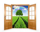 Open the door — Stock Photo
