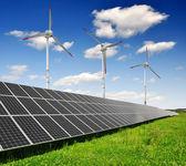 Panneaux d'énergie solaire — Photo