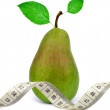 Pear with measuring tape — Stock Photo #19755697