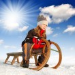 Girl on a sleigh - Foto de Stock