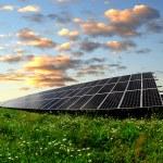 painéis de energia solar — Fotografia Stock  #20030857