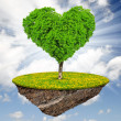 Little island and tree in the shape heart — Stock Photo #21319105