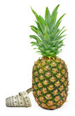 Pineapple with measuring tape — Foto de Stock