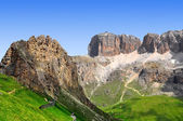 Dolomite peaks,Sella — Stock Photo