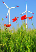 Wind turbines — Foto Stock