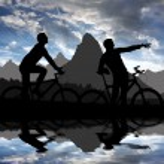 Mountain bikers — Stock Photo #22018891