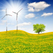 Wind turbines - Foto Stock