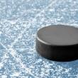 Black hockey puck — Stock Photo #24493197