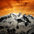 Stock Photo: Beautiful mountain Monte Rosa