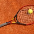 tennisbal en racket — Stockfoto #26113837