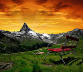 Matterhorn in the sunset — Stock Photo