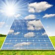 Solar energy panels against sunny sky — Stock Photo #27307325
