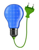 Eco energy bulb isolated on white — Stock Photo
