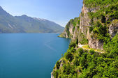 Lago di Garda, largest Italian lake,North Italy — Stock Photo