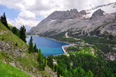 Marmolada and Fedaia lake, Trentino, Italy — Stock Photo