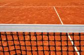 Close up detail of a tennis net — Stock Photo