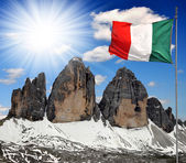 Tre cime di Lavaredo, Dolomite Alps, Italy — Stock Photo