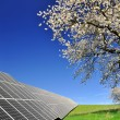 Solar energy panels in spring landscape — Stock Photo #28681631