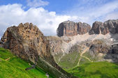 Dolomite peaks, Sella — Stock Photo