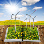 ökologische buch öffnen — Stockfoto